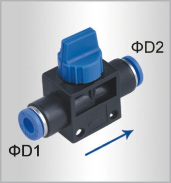 PU HOSE FITTING VALVE 8MM-8MM