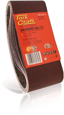 sanding belt 60 x 400mm 120grit 10/pack (for triton palm sander)