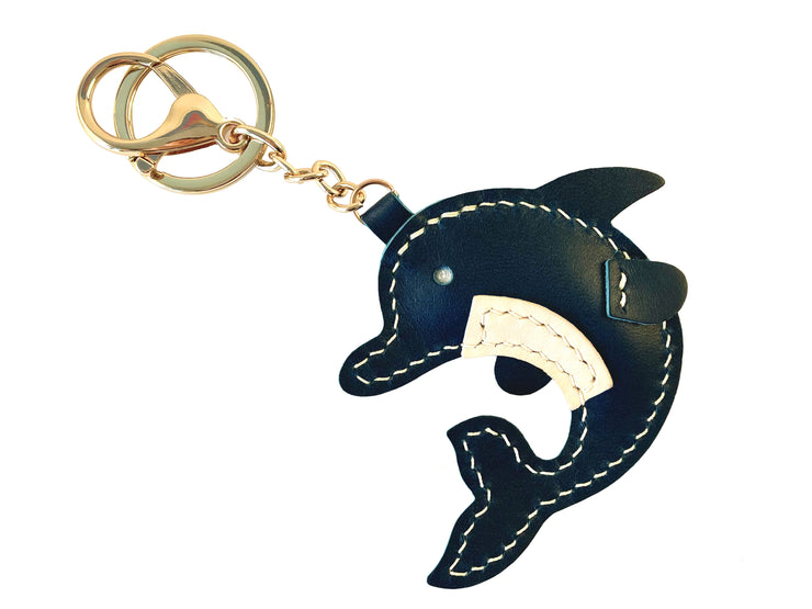 Dolphin Key Ring - Handcrafted by J Tanner