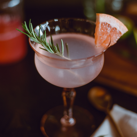 Pink Grapefruit and Rosemary Mocktail