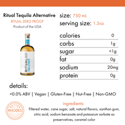 Ritual Tequila Alternative - BetterRhodes Non-Alcoholic