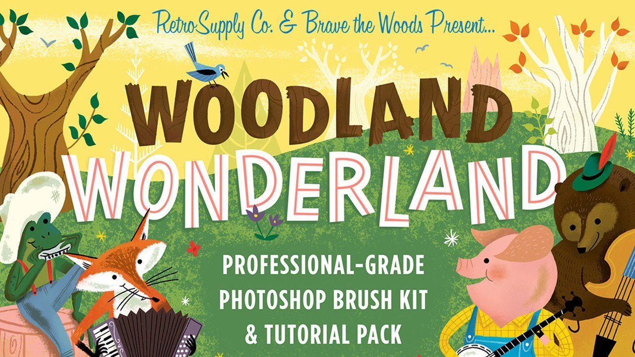 A Sneak Peak at The Woodland Wonderland Brush Kit and Tutorial Pack