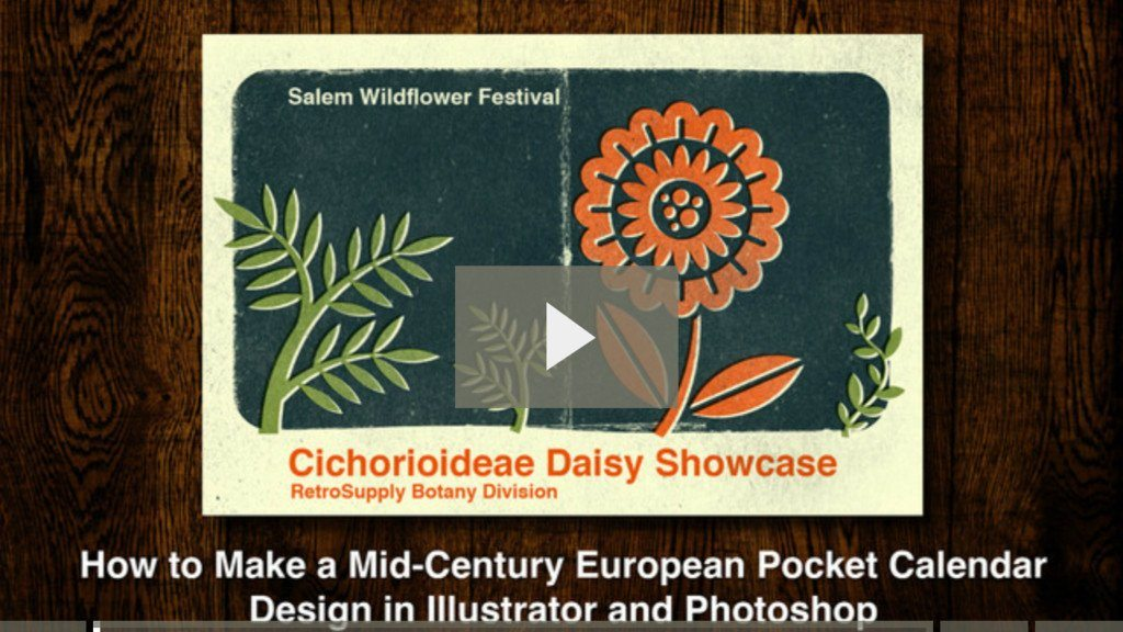 How to Create a Mid-Century European Pocket Calendar Design
