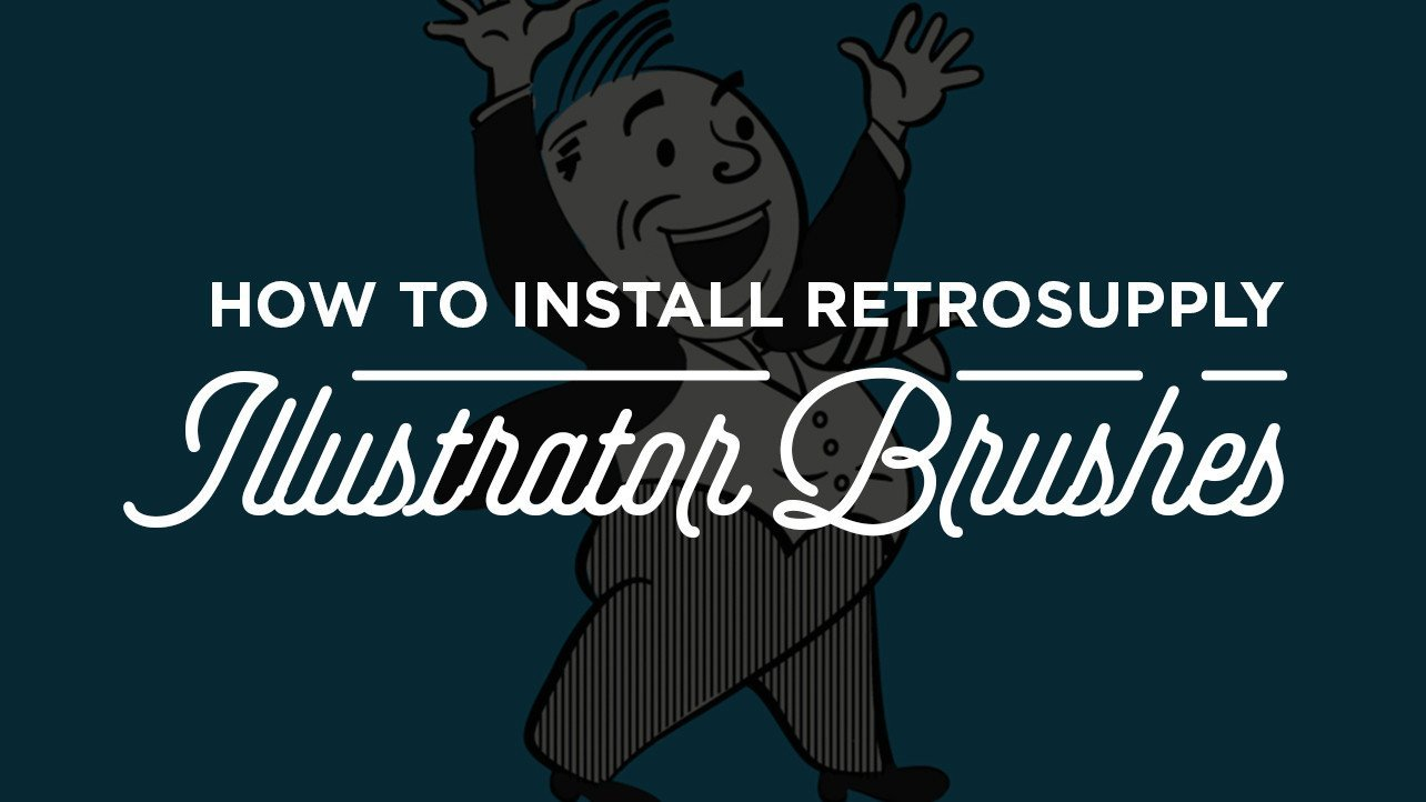 How to Install RetroSupply Illustrator Brushes