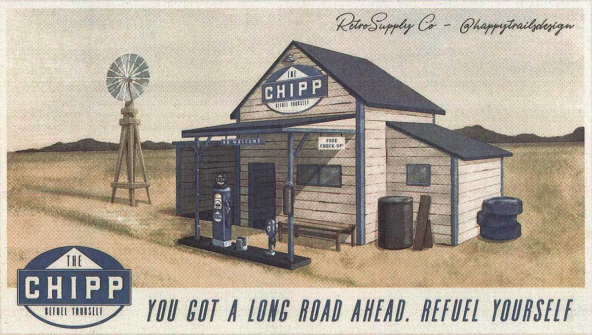 How to Make a Retro Fuel Station Illustration in Photoshop