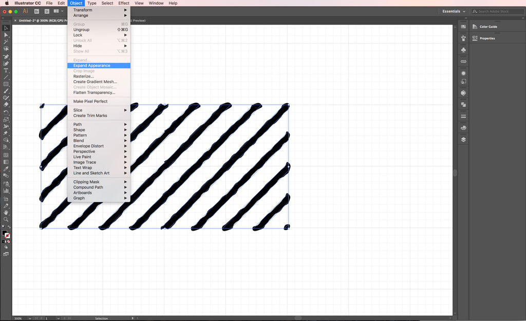How to Make No-Stretch Cross Hatching Pattern Brushes in