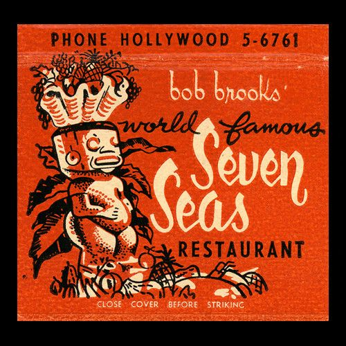Seven Seas Tiki Matchbook