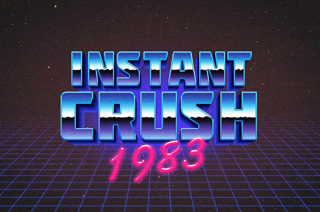 Retro Text Effects: 80s Chrome Photoshop Layer Style