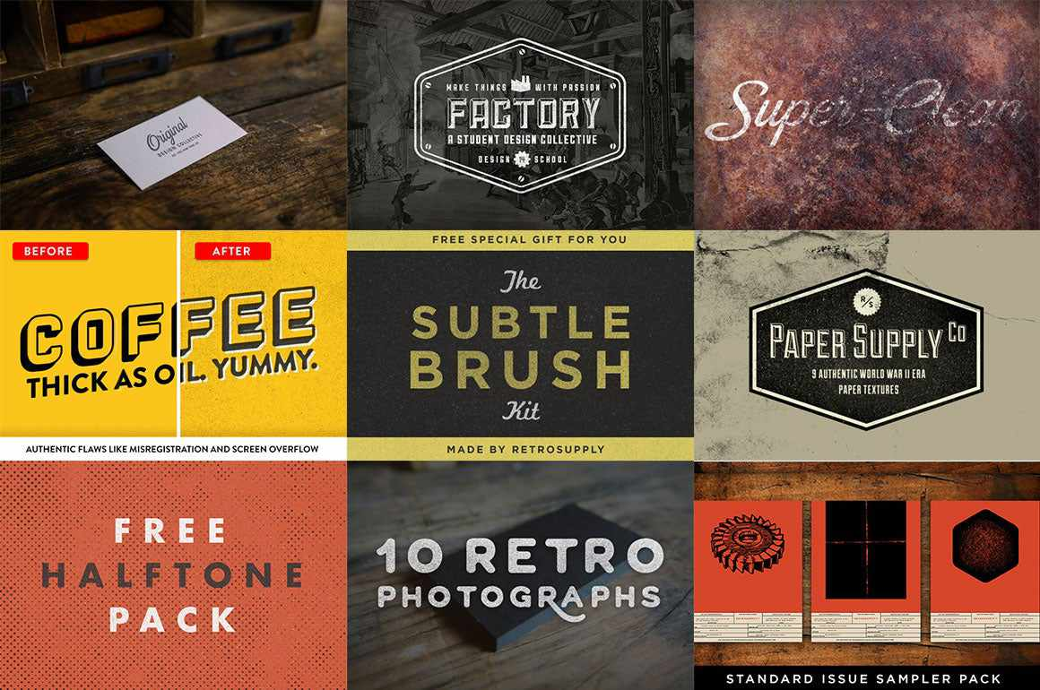 Free RetroSupply Graphic Design Goods