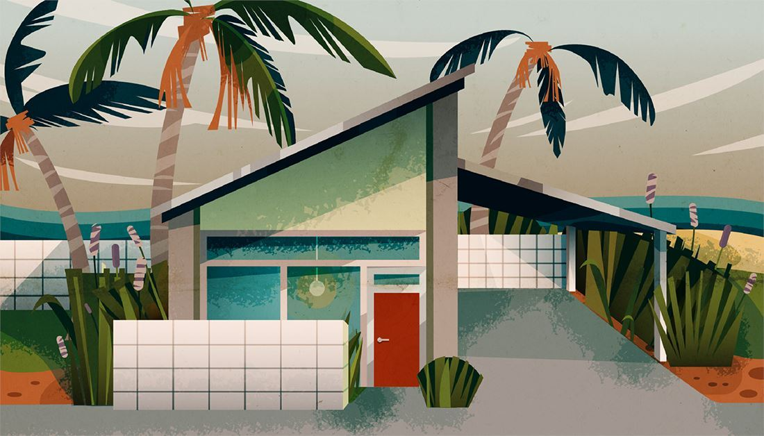 How to Make a Mid Century Modern House Illustration in Illustrator