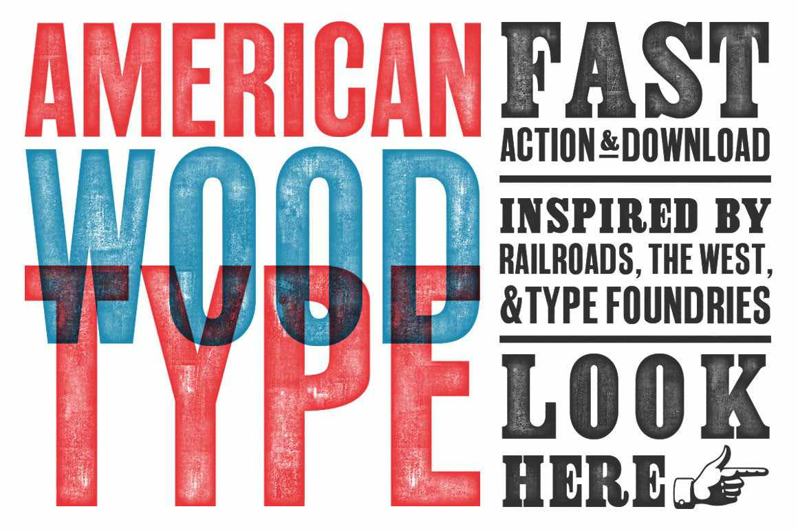 American Wood Type by RetroSupply