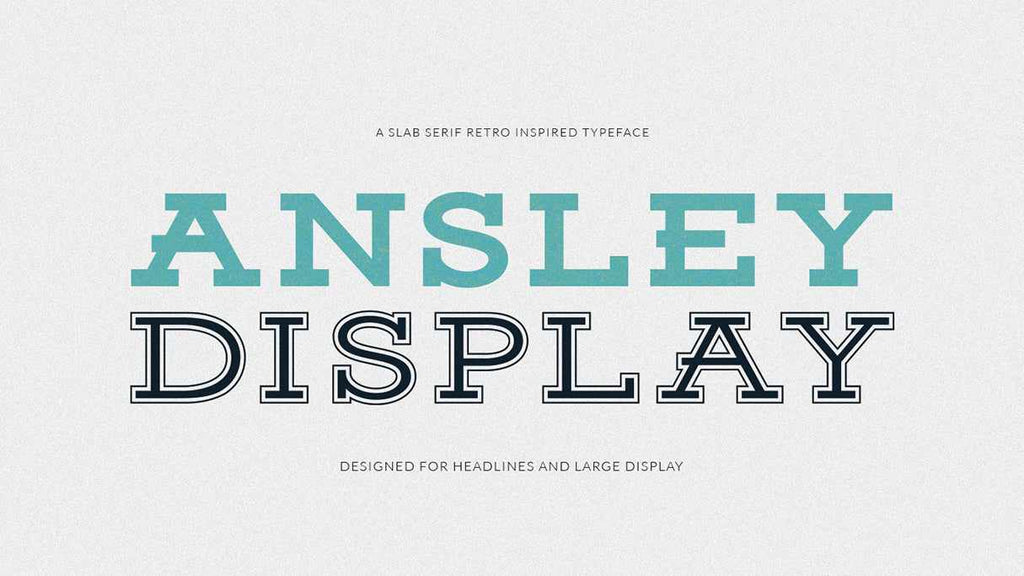 Free Retro and Vintage Fonts: Ainsley Display