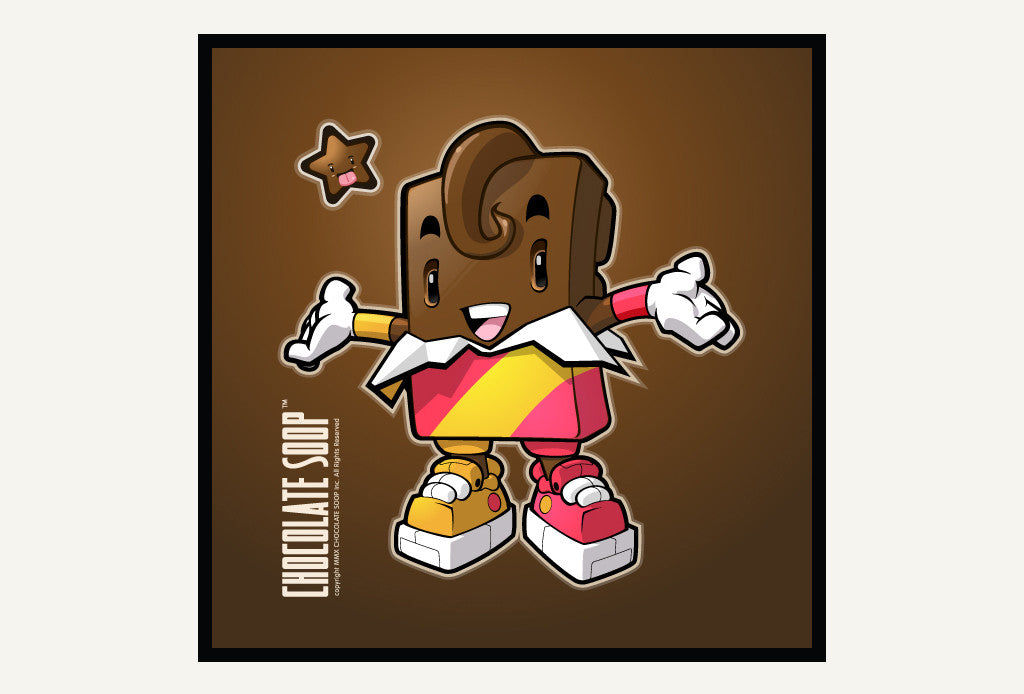 Retro character design tutorials: chocolate bar