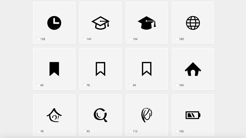 Best retro and vintage resources: Flat Icons