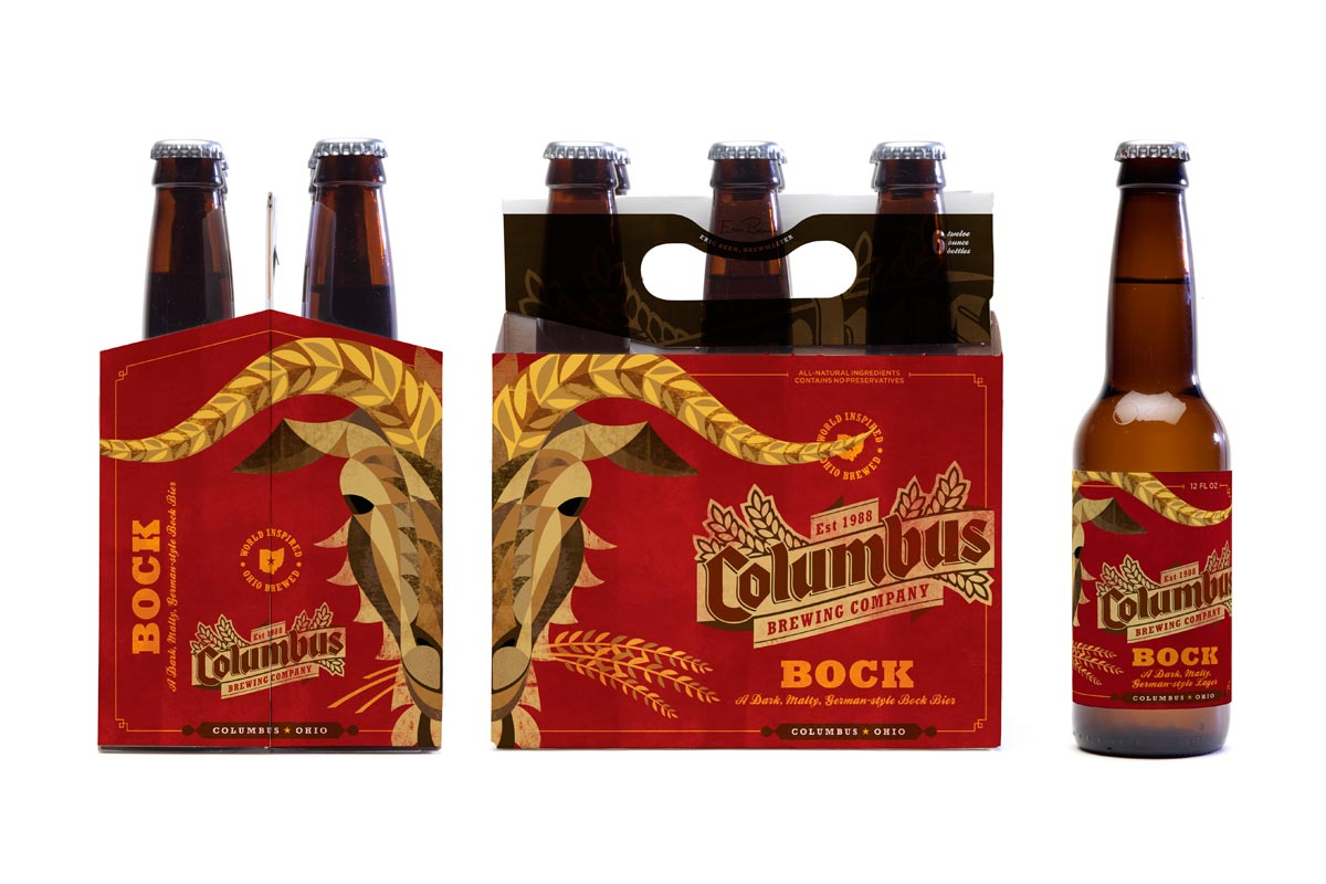 Columbus Brewing Company bottle design by Jeremy Slagle