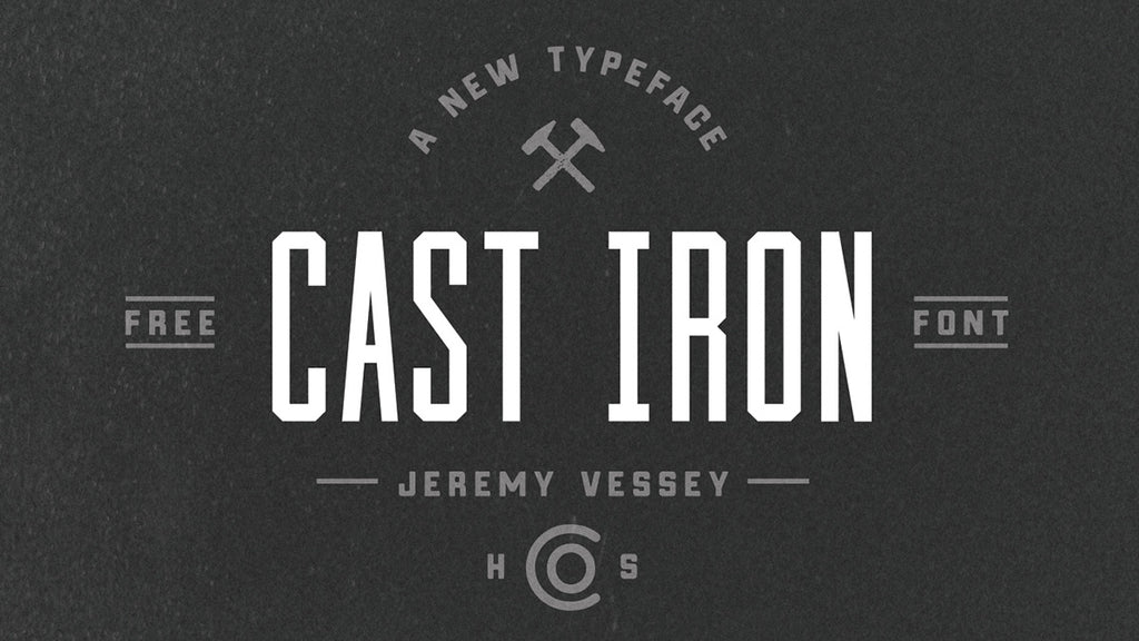 Free retro and vintage fonts: Cast Iron