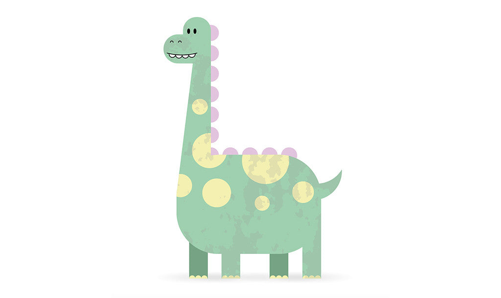 Retro character design tutorials: cute dinosaur