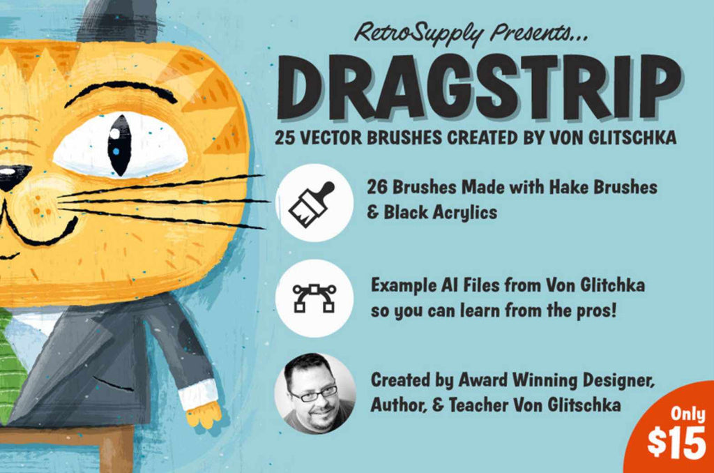RetroSupply Dragstrip brushes