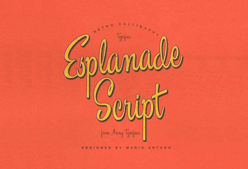 Free Retro And Vintage Fonts Esplanade Script