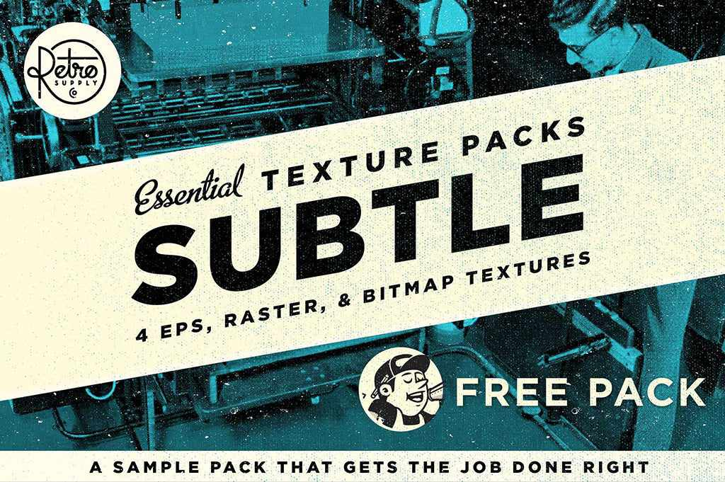 Free retro and vintage textures: Essential Subtle Pack