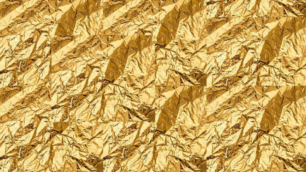 Free retro and vintage textures: crumpled gold