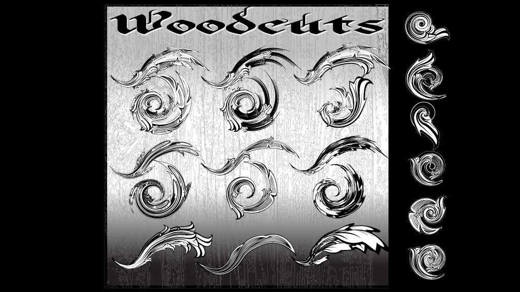 Free Illustrator brushes: Woodcuts