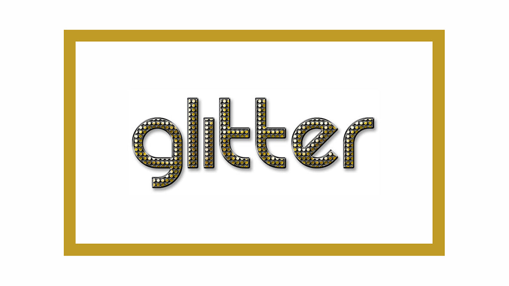 Free Retro and Vintage Photoshop Actions: Glitter Text