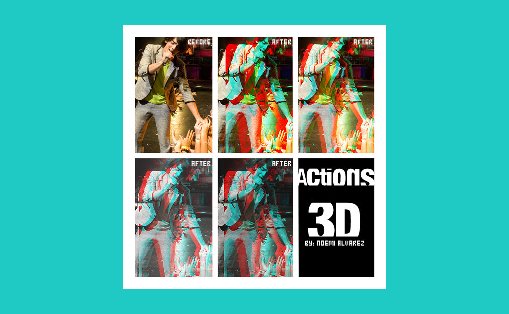Free Retro and Vintage Photoshop Actions: Action 3D