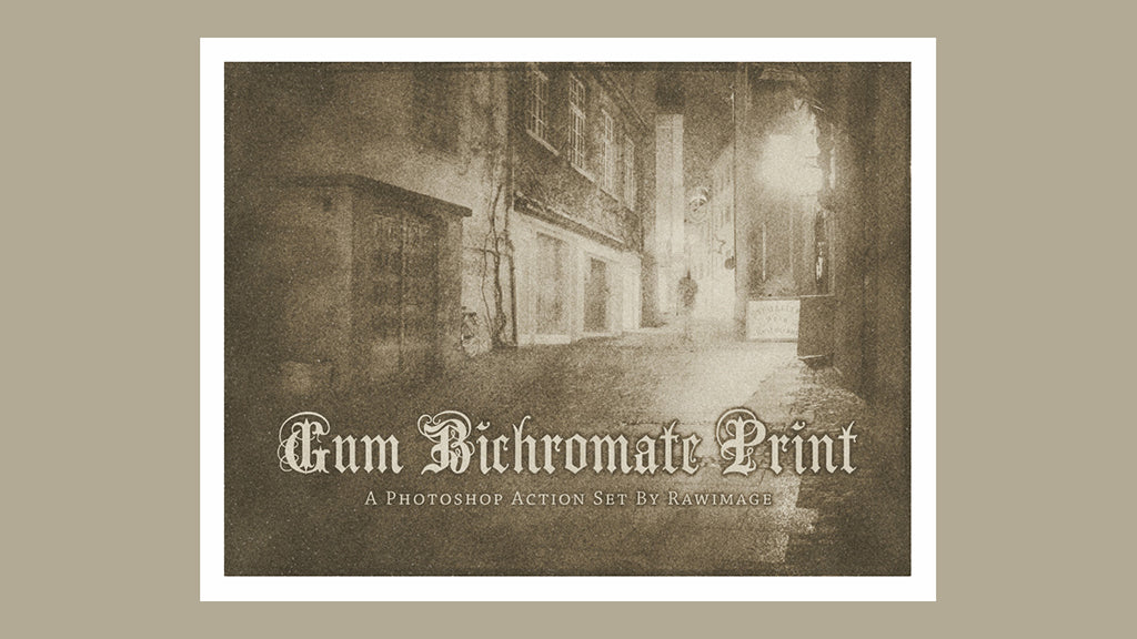 Free Retro and Vintage Photoshop Actions: Gum Bichromate print