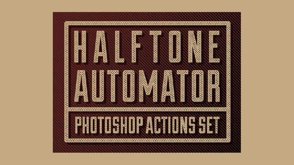 Free Retro and Vintage Photoshop Actions: Halftone Automator