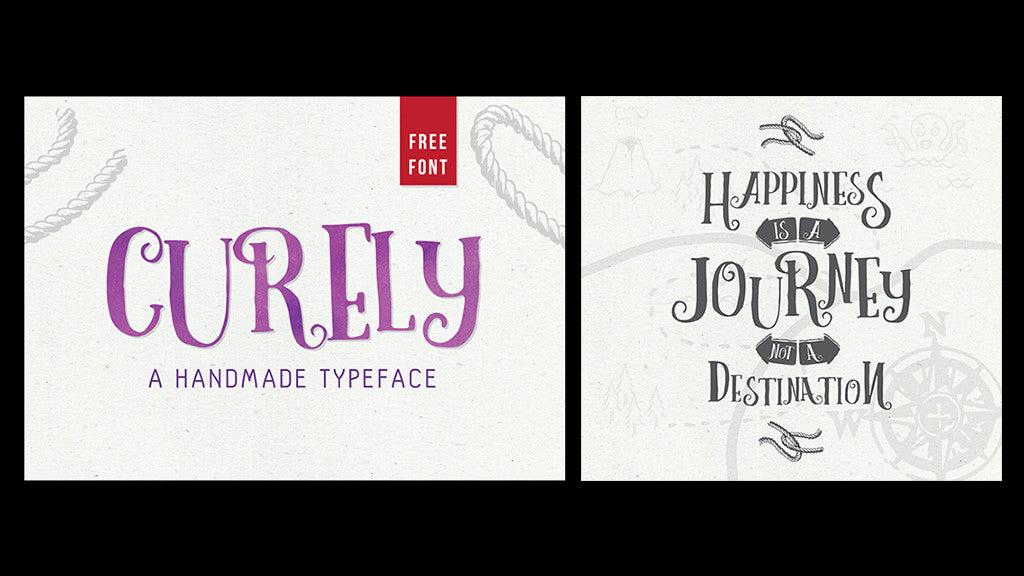 Free retro and vintgae fonts: Curley