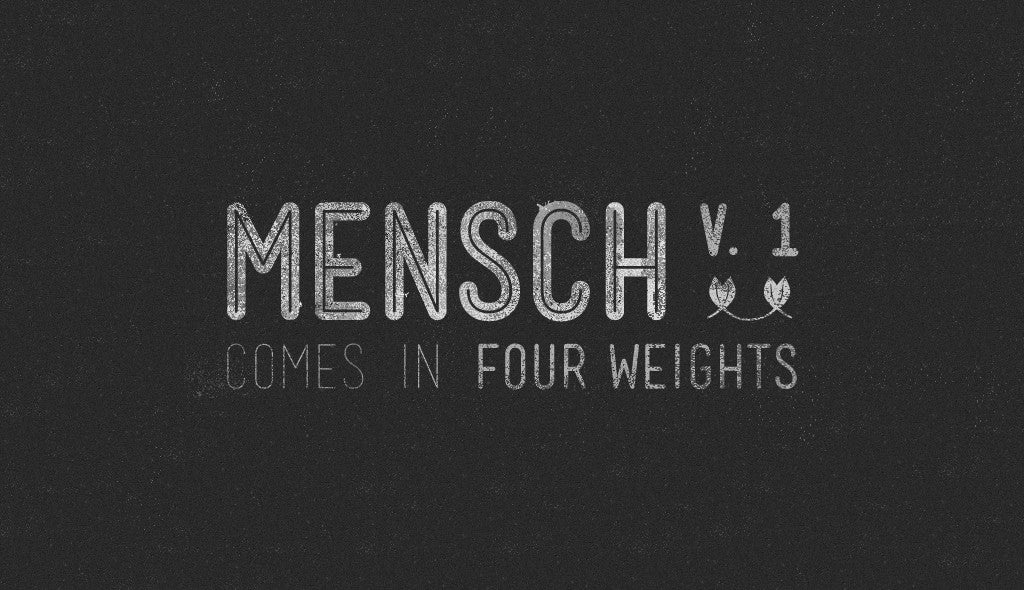 Free retro and vintage fonts Mensch