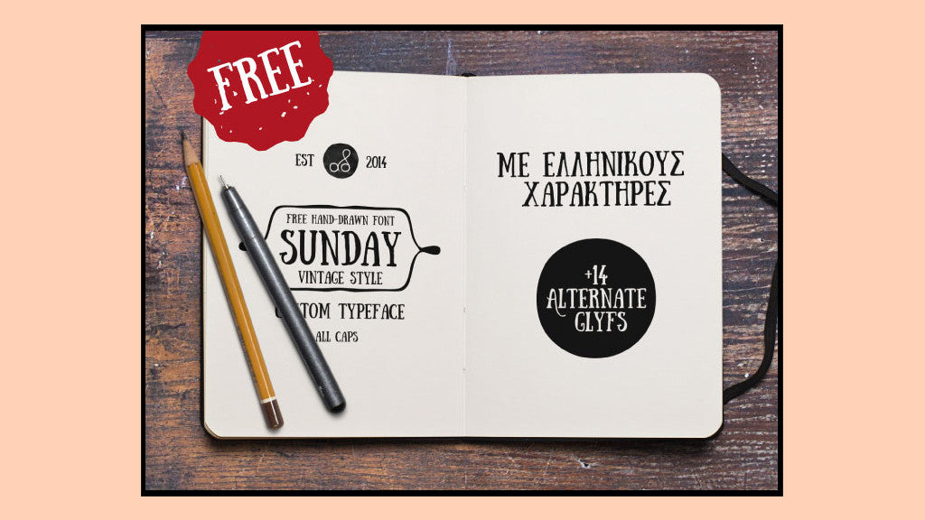 Free Retro and Vintage Fonts: Sunday