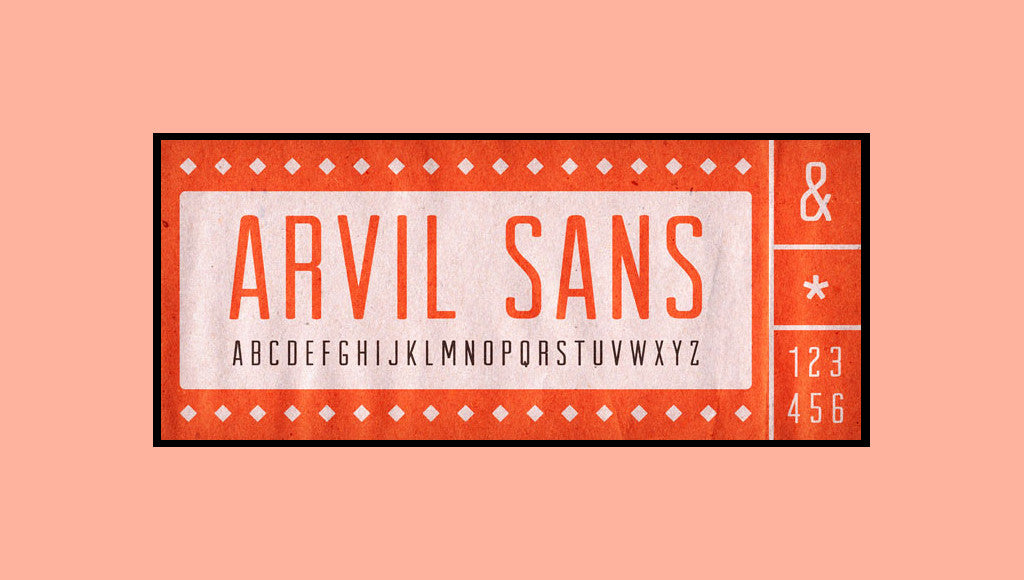Free Retro and Vintage Fonts: Arvil