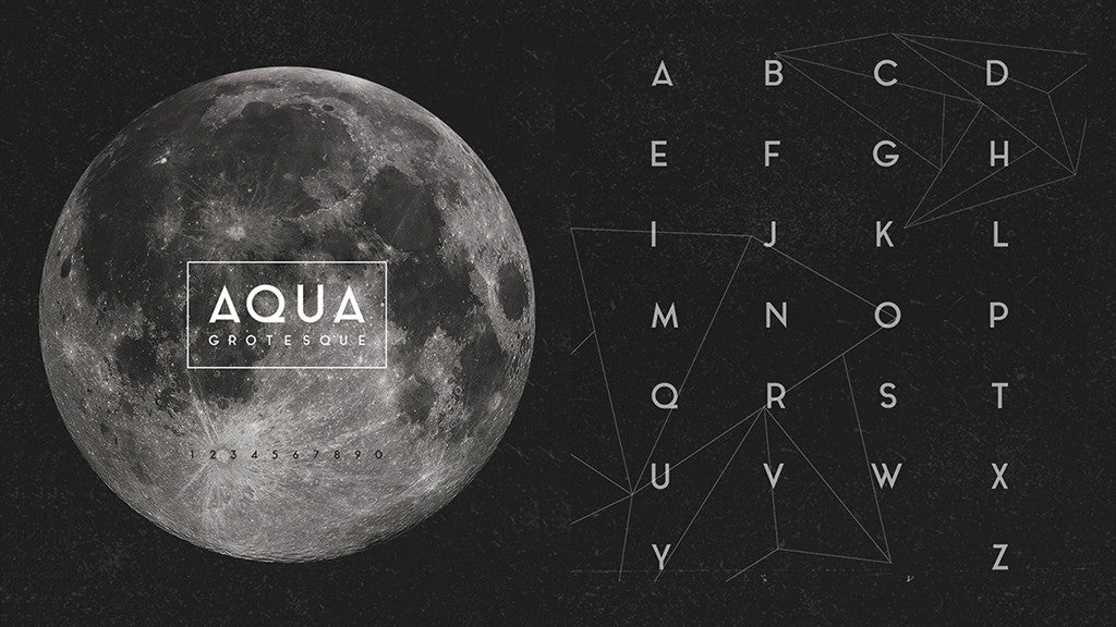 Free retro and vintage fonts: Aqua Grotesque