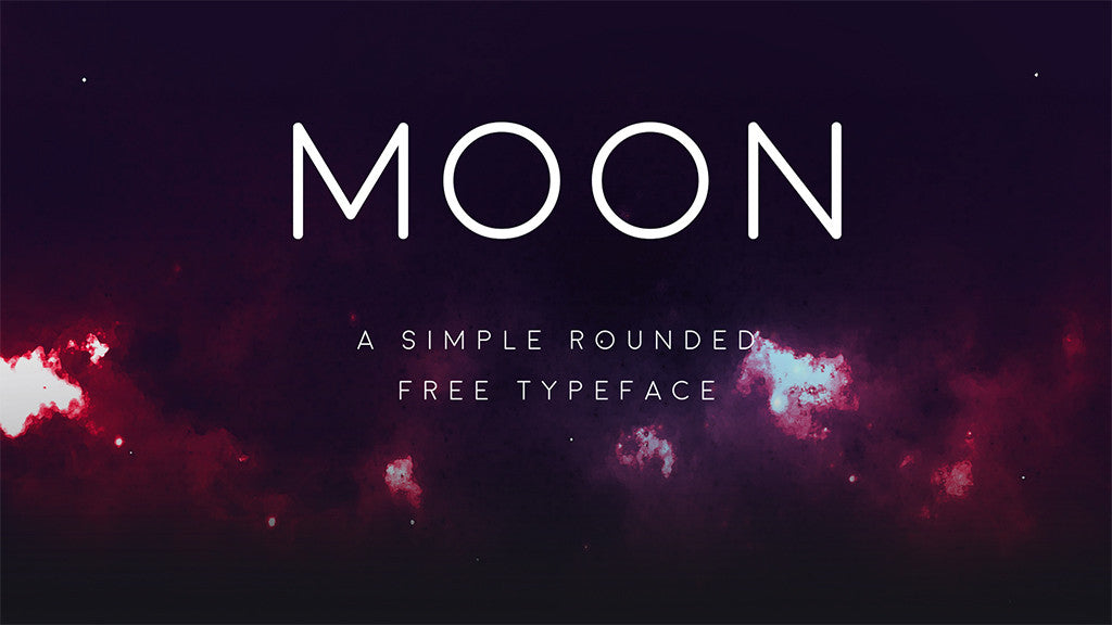Free retro and vintage fonts: Moon