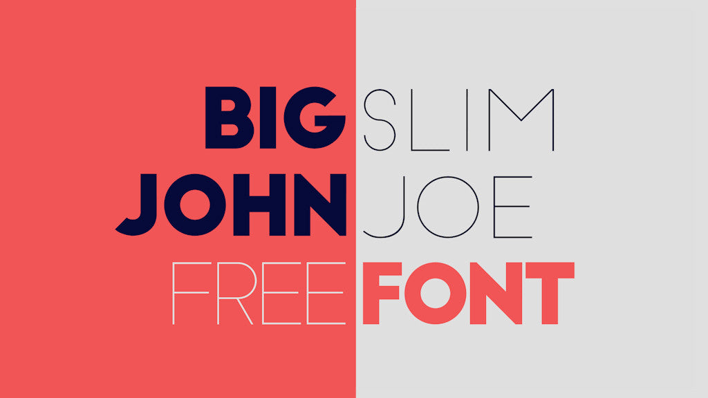 Free retro vintage fonts: Big John Slim Joe