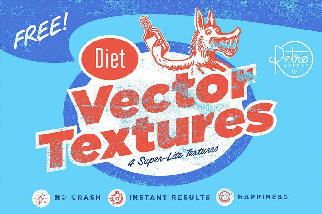 Free retro and vintage textures: Diet Vector Textures