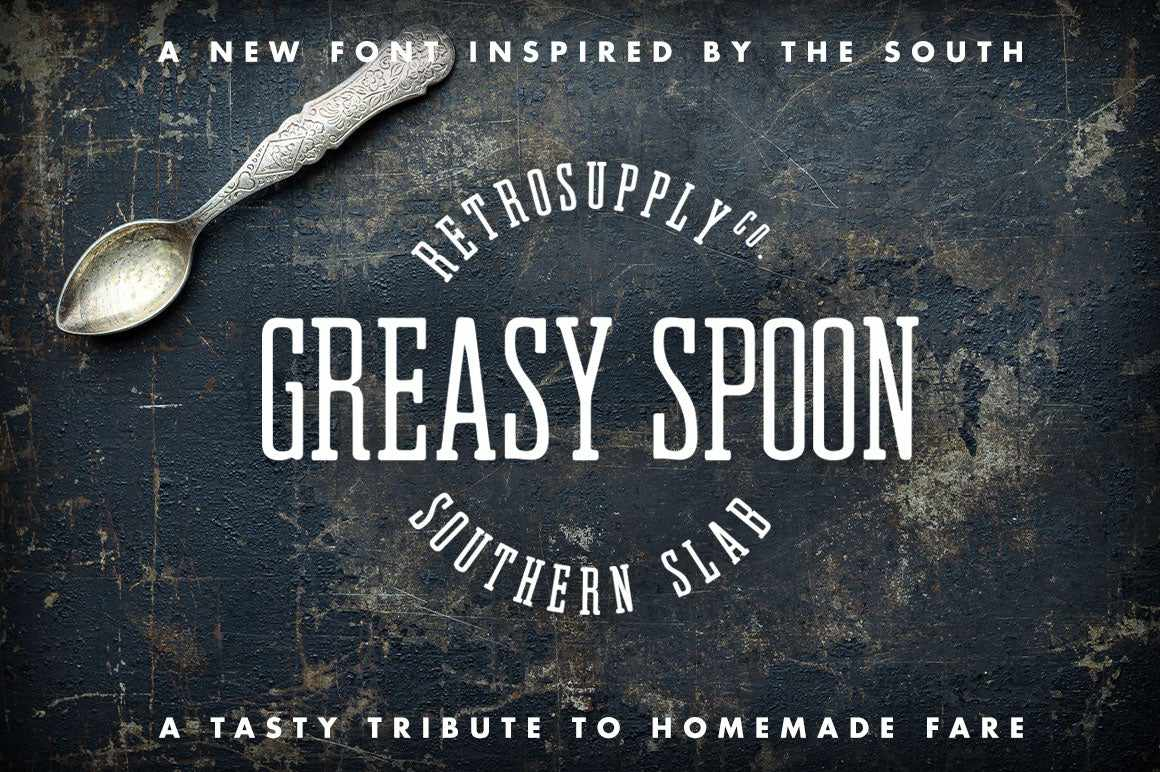 greasy spoon southern slab font
