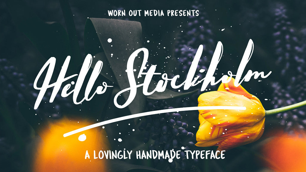 Free retro and vintage fonts: Hello Stockholm