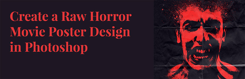 Retro and vintage Photoshop tutorials: horror poster