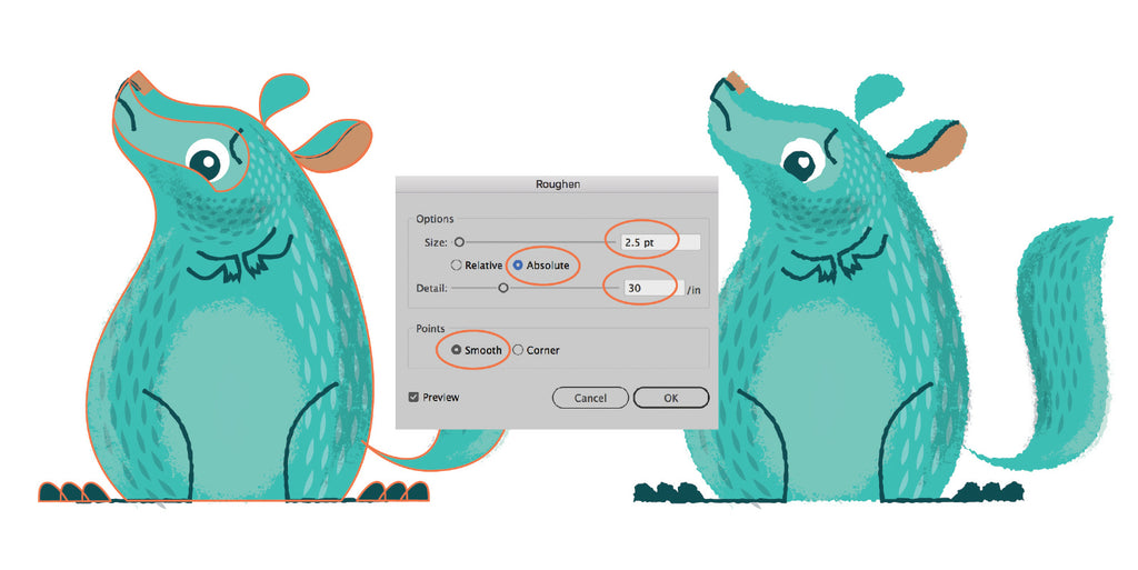 How to Draw a Sad Chinchilla Using Custom Brushes in Adobe