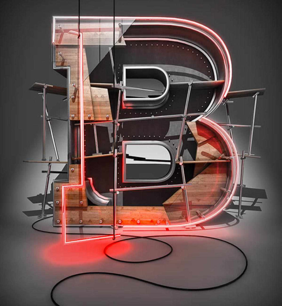Retro and vintage tutorials: Create a 3D Typographic Illustration in Cinema 4D and Photoshop