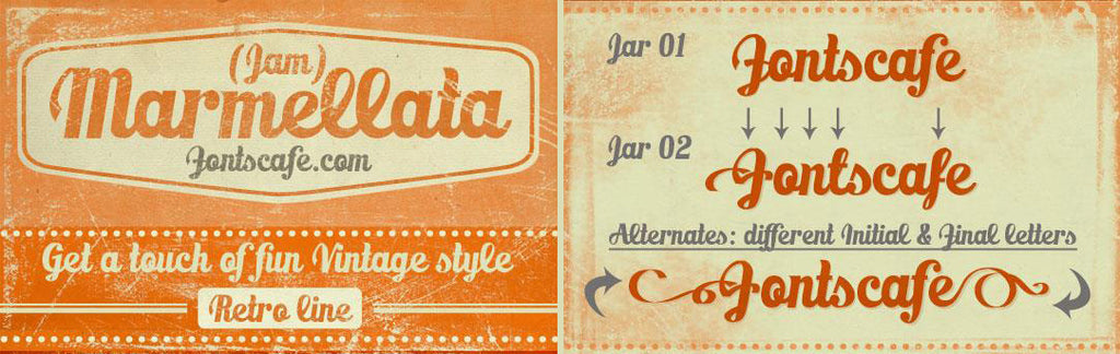 Free Retro and Vintage Fonts: Marmellata