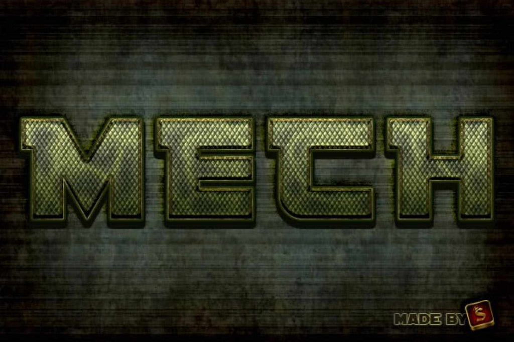 Retro and vintage tutorial: Create a Mech-Inspired Text Effect in Photoshop