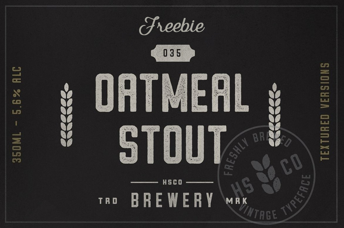 Oatmeal Stout Aged Freebie
