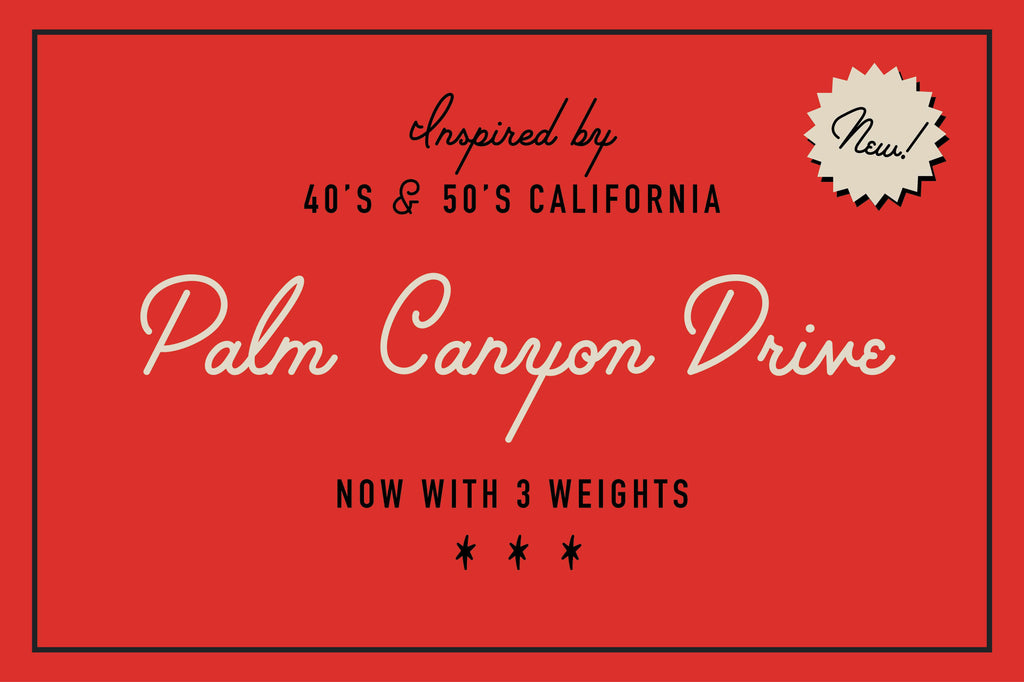 Free retro and vintage fonts: Palm Canyon Drive