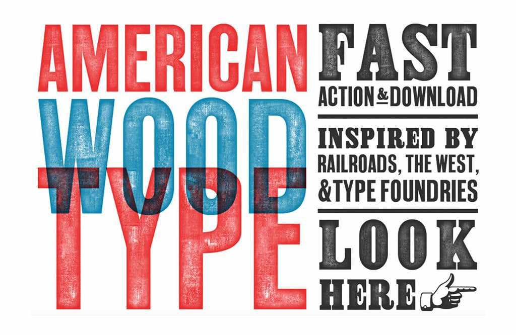 Free Retro and Vintage Photoshop Actions: American Wood Type