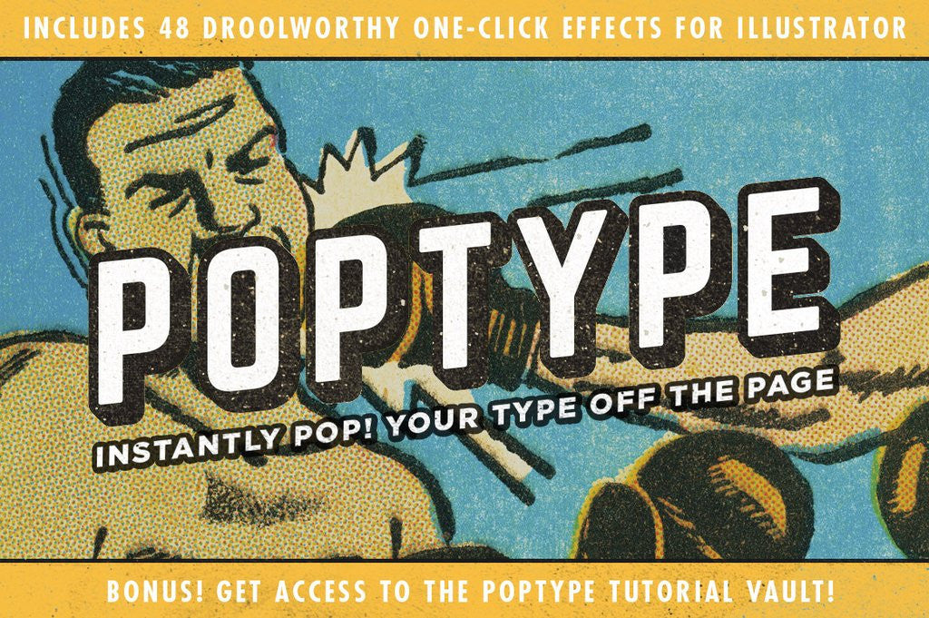 Retro Text Effects: PopType graphic styles for Illustrator