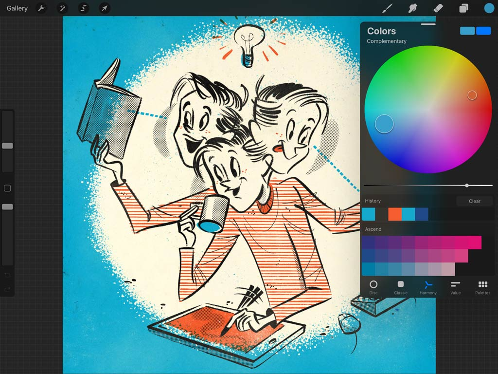 Procreate 5 Color Harmony